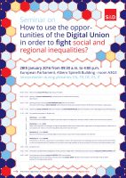 Using the Digital Union to fight social and regional inequalities