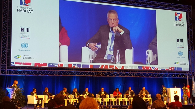 Housing Europe President, Marc Calon representing Housing Europe at the plenary session