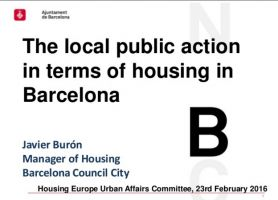 The municipal housing policy of Barcelona