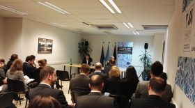 Dr. Clos presents the Zero Draft of the New Urban Agenda to stakeholders in Brussels
