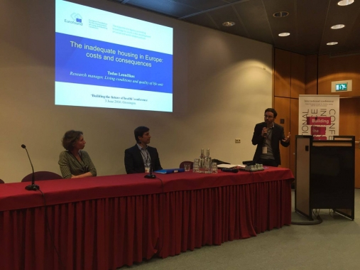 Julien Dijol at the Housing Europe event in Groningen