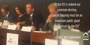 """Social Housing must be seen as an important public good"""