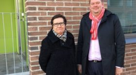 Jaana Närö, CEO of Helsinki City Housing Company with KOVA executive director Jouni Parkkonen