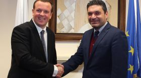 Housing Europe President with Cyprus' Minister of Interior, Petrides
