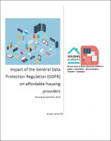 Impact of the General Data Protection Regulation (GDPR) on affordable housing providers