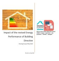 Impact of the revised Energy Performance of Buildings Directive on affordable housing providers