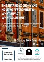 The Sharing Economy and Housing Affordability: What Impact, What Solutions?