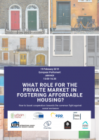 What Role for the Private Market in Fostering Affordable Housing?