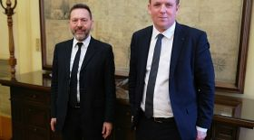 The Governor, Yannis Stournaras was present at the exchange between the Housing Europe delegation and the Bank of Greece