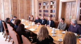 In the City Hall of Athens with representatives of the municipal social services