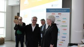 Barcelona City Housing Councillor, Josep Maria Montaner receives the Award for IMHAB