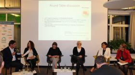 Snapshots from the roundtable discussion of the second part of the event