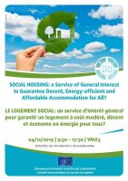 Social housing: a service of general interest to guarantee decent, energy-efficient and affordable accommodation for all?