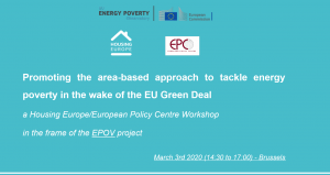 Promoting the area-based approach to tackle energy poverty in the wake of the EU Green Deal