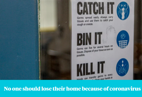 England | No one should lose their home because of coronavirus