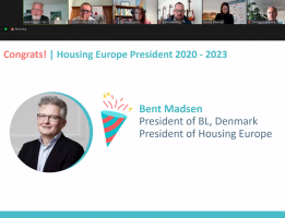 The new President of Housing Europe is Bent Madsen from B.L.Denmark