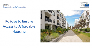 Recent European Parliament study provides recommendations on housing affordability