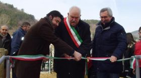At the inauguration of new social dwellings in Mugello. Picture: ilfilo.net