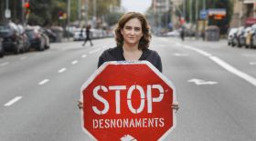 From the time she was leading the anti-eviction movement | Picture: Lavanguardia