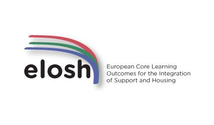 ELOSH project logo (European Core Learning Outcomes for Integration of Support and Housing )